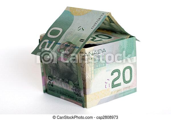 épület, kanadai, pénz - csp2808973