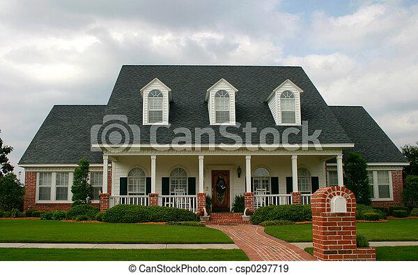 épület, mód, klasszikus, új - csp0297719