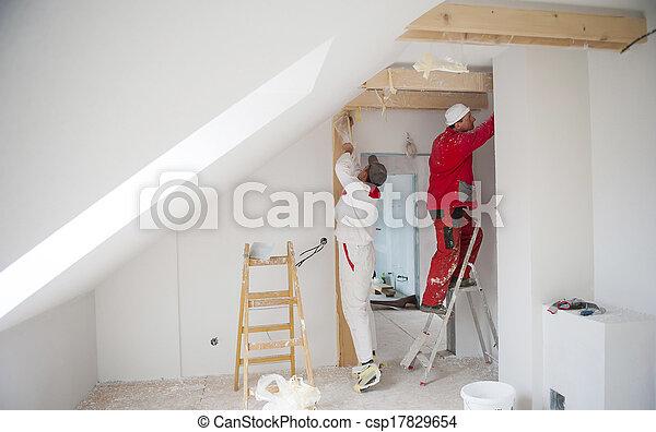 épület, munkás - csp17829654