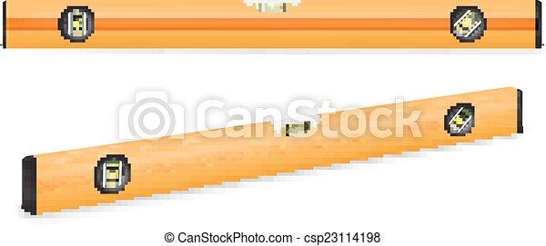 épület, sárga, egyszintű - csp23114198