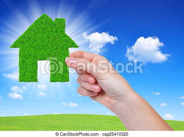 épület, zöld - csp25410320
