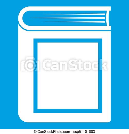 Epais Livre Blanc Icone