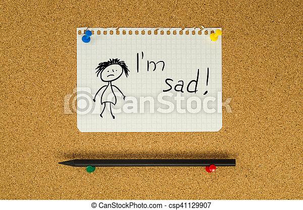 épingle Message Texte Triste Note Planche Je Suis Bulletin