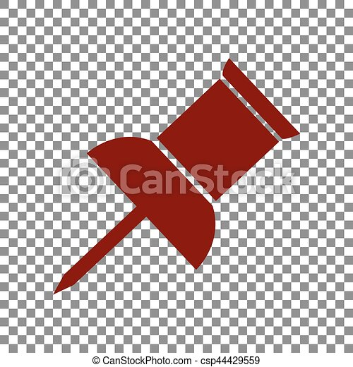 épingle, signe., rouge foncé, arrière plan., poussée, transparent, icône