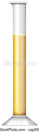 éprouvette, jaune, liquide - csp30086204