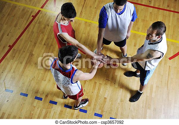 équipe basket-ball - csp3657092