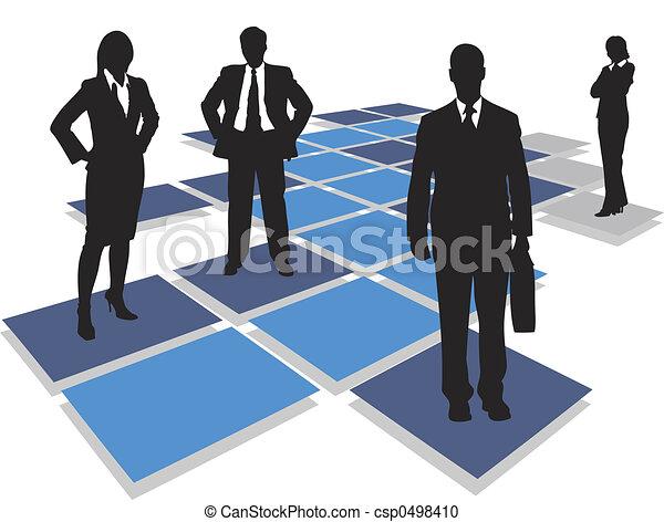 équipe, business - csp0498410