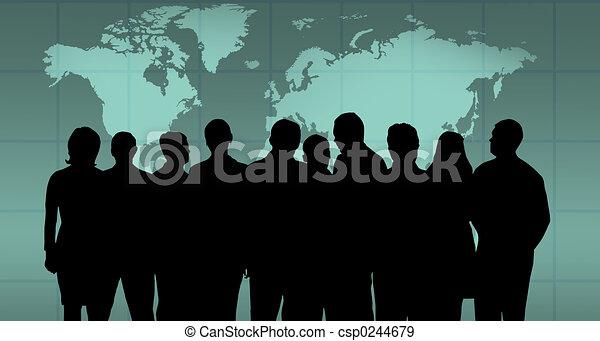 équipe, business - csp0244679