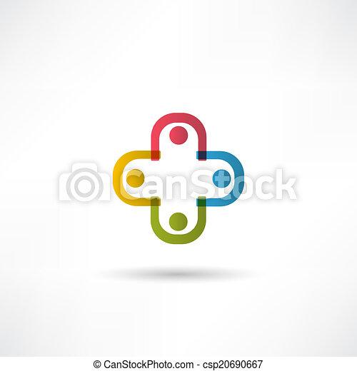 équipe, icône - csp20690667