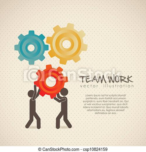 équipe travail - csp10824159