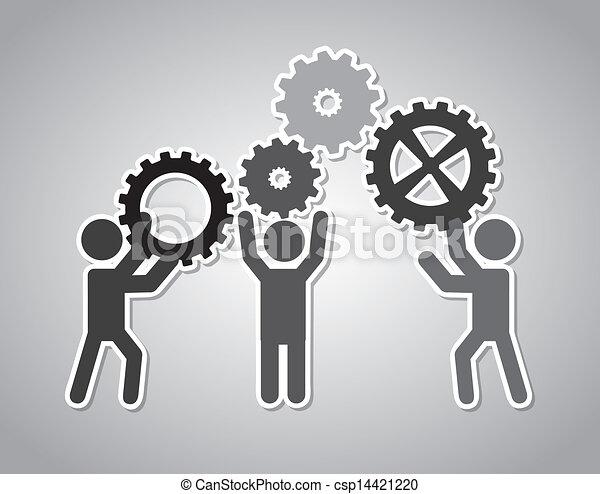 équipe travail - csp14421220
