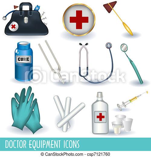 équipement, docteur, icônes - csp7121760