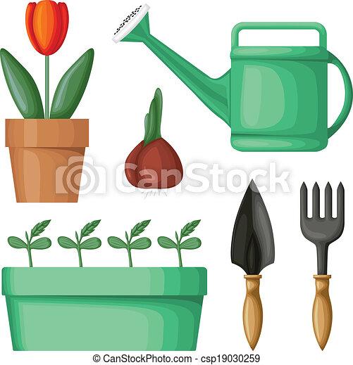 équipement, ensemble, jardin - csp19030259