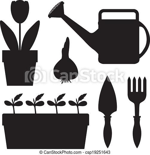 équipement, ensemble, jardin - csp19251643