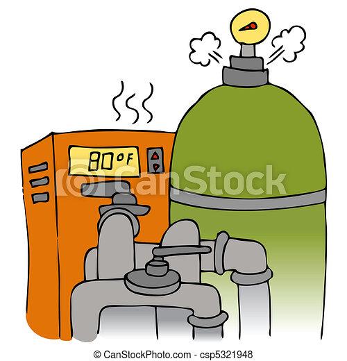 équipement, pompe, chauffage, piscine - csp5321948