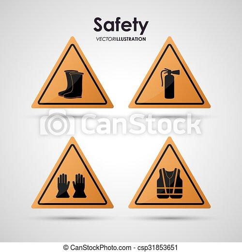 équipement, sécurité, conception - csp31853651