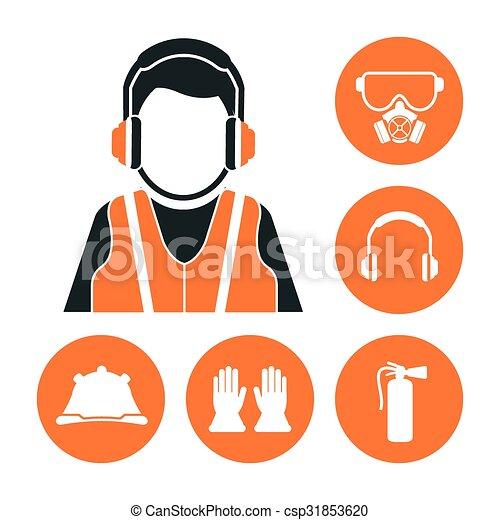équipement, sécurité, conception - csp31853620