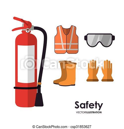 équipement, sécurité, conception - csp31853627