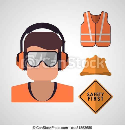 équipement, sécurité, conception - csp31853680