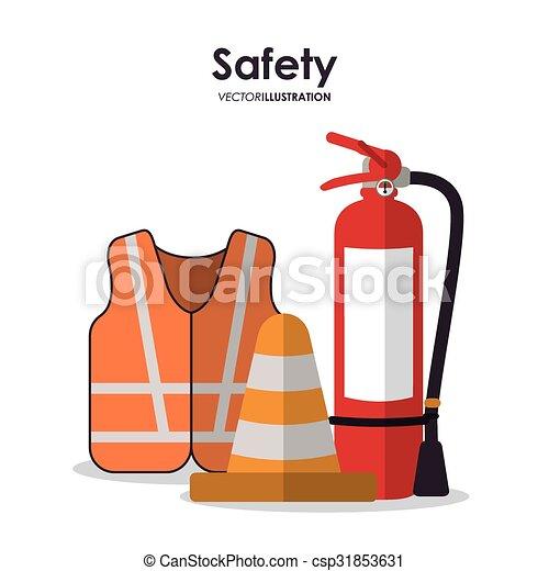équipement, sécurité, conception - csp31853631