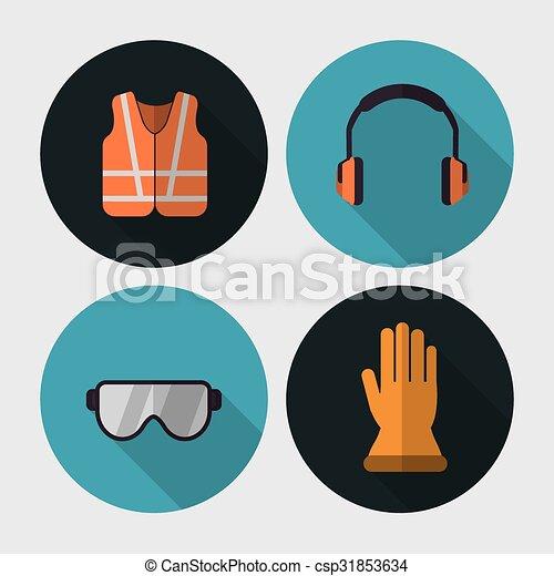 équipement, sécurité, conception - csp31853634