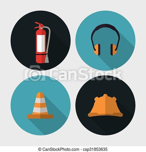 équipement, sécurité, conception - csp31853635
