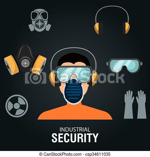 équipement, sécurité, conception - csp34611035