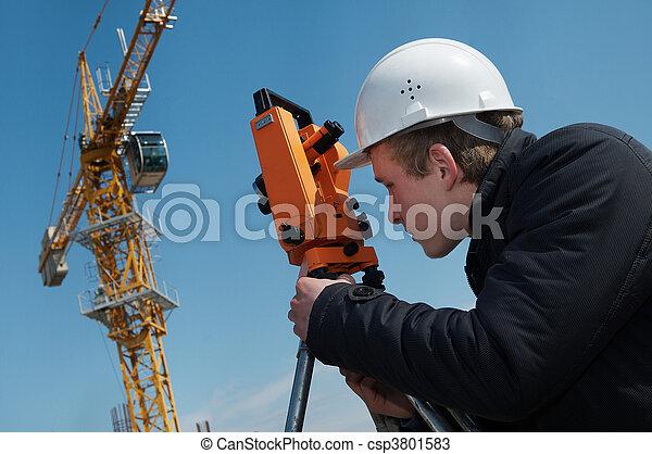 équipement, transit, niveau, arpenteur - csp3801583