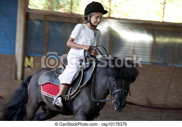 équitation, poney, enfant - csp10178376