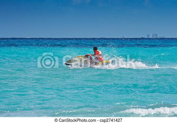 équitation, ski, jet, homme - csp2741427