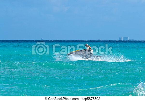équitation, ski, jet, homme - csp5878802