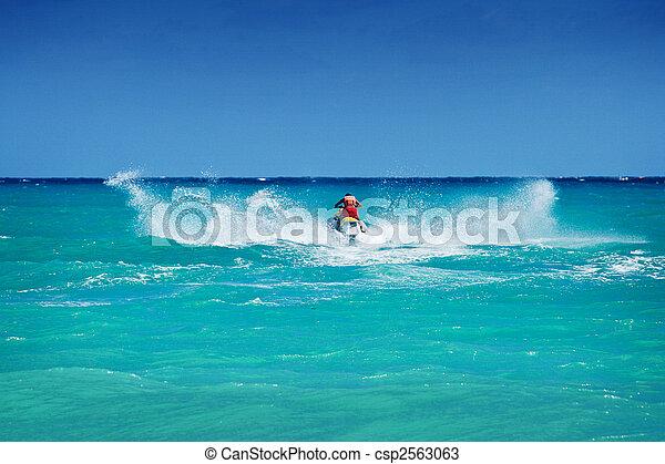 équitation, ski, jet, homme - csp2563063