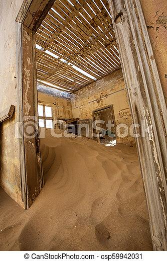 éstos, encima, arena, kolmanskoppe, invaded, cuartos, tomado, tiene - csp59942031