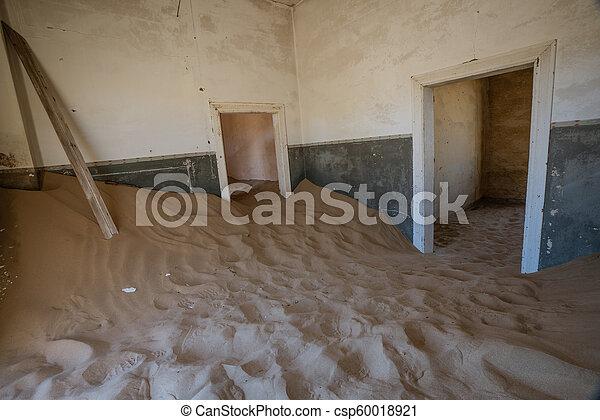 éstos, encima, arena, kolmanskoppe, invaded, cuartos, tomado, tiene - csp60018921
