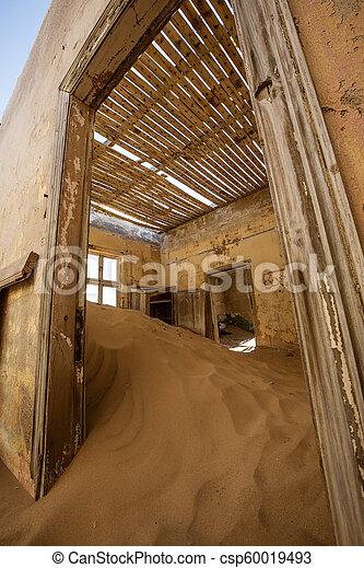 éstos, encima, arena, kolmanskoppe, invaded, cuartos, tomado, tiene - csp60019493