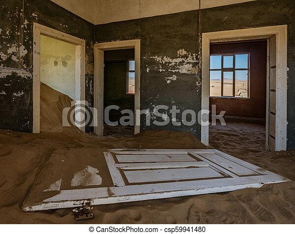 éstos, encima, arena, kolmanskoppe, invaded, cuartos, tomado, tiene - csp59941480