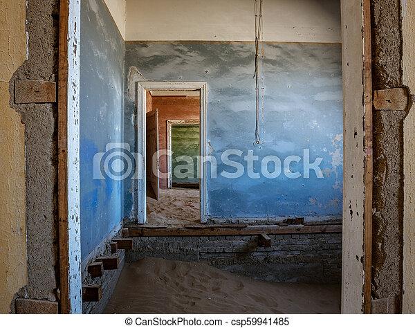 éstos, encima, arena, kolmanskoppe, invaded, cuartos, tomado, tiene - csp59941485