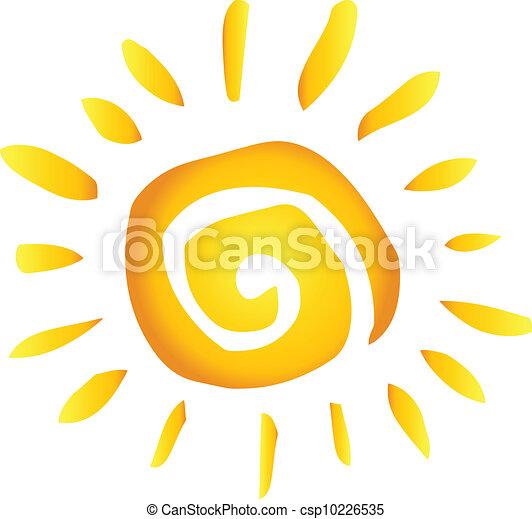 été, chaud, résumé, soleil - csp10226535