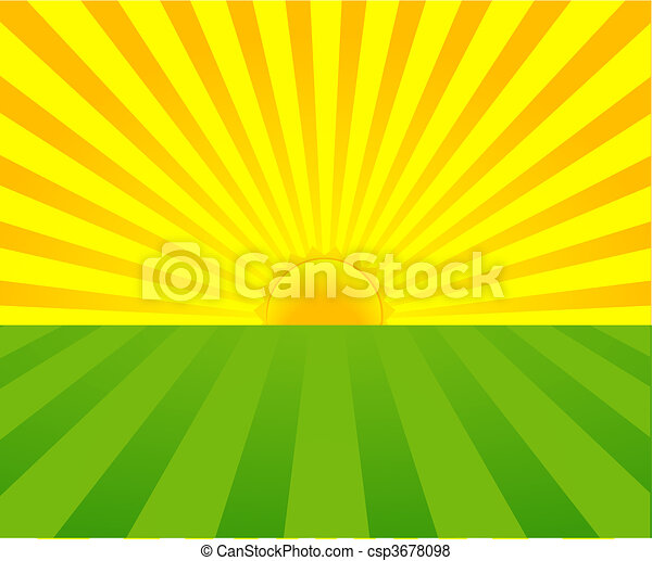 été, levers de soleil - csp3678098