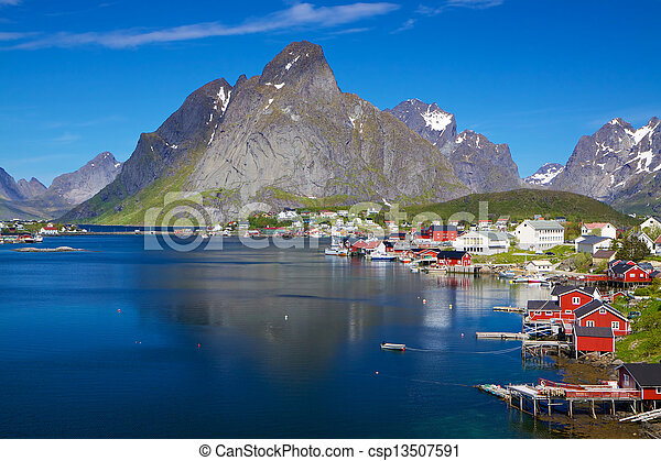 été, norvège, scénique - csp13507591