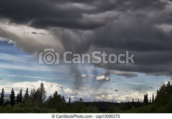 été, orage - csp13095375