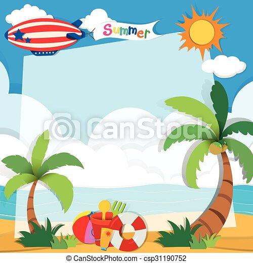 été, plage, temps - csp31190752