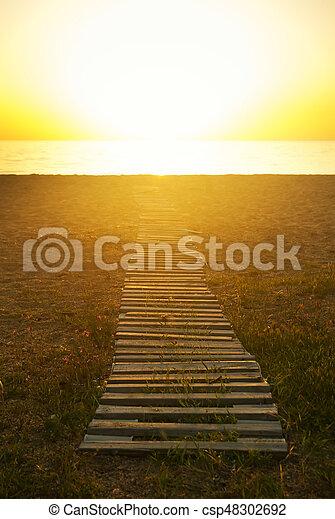 été, scène plage - csp48302692