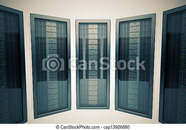 étagère, servers. - csp13926880