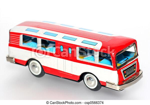 étain, autobus, jouet - csp0566374