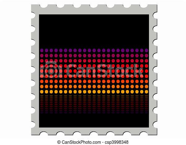 étape, résumé, timbre - csp3998348