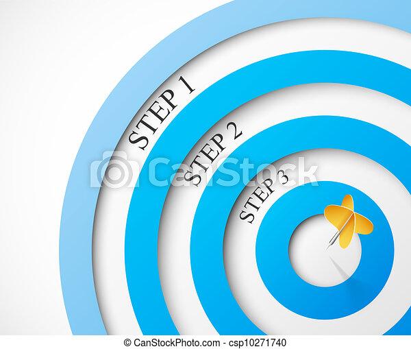 étapes, cible - csp10271740