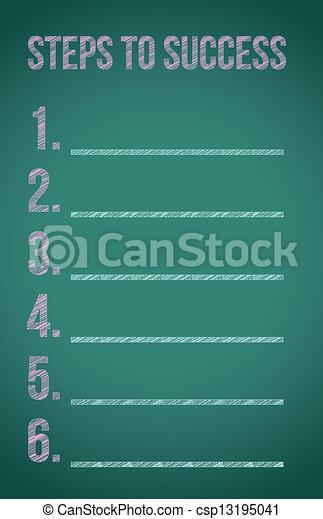 étapes, reussite - csp13195041