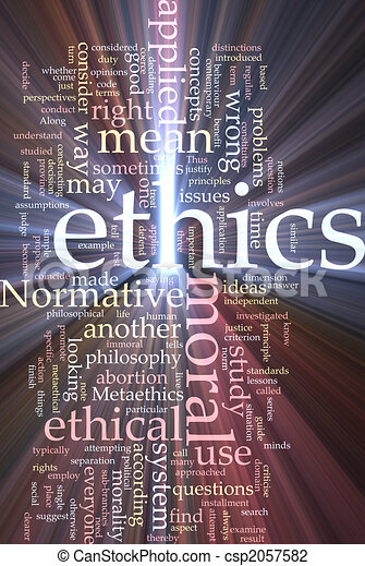 éthique, mot, incandescent, nuage - csp2057582