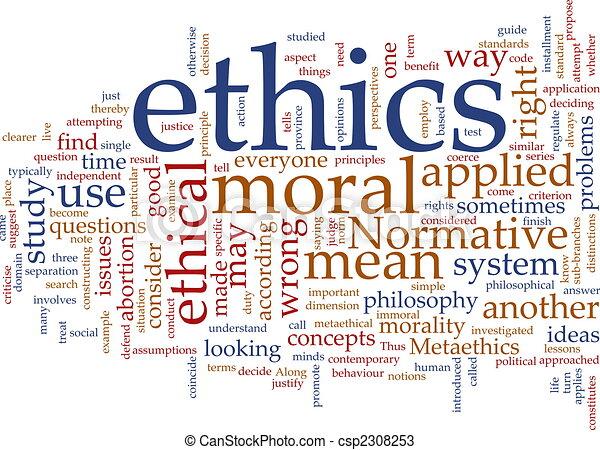 éthique, mot, nuage - csp2308253